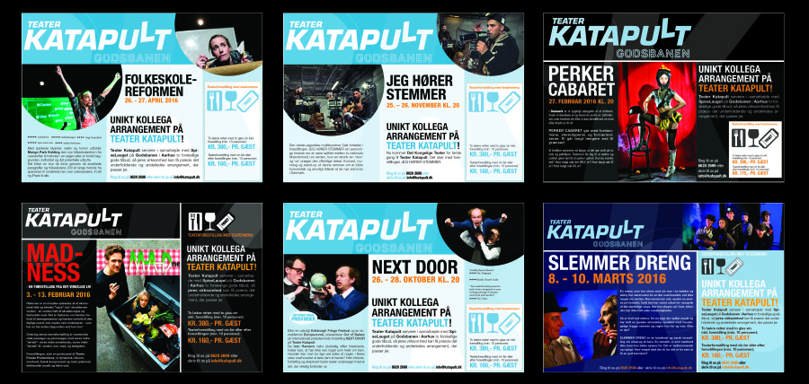 PR- and Marketing material for Theater Katapult