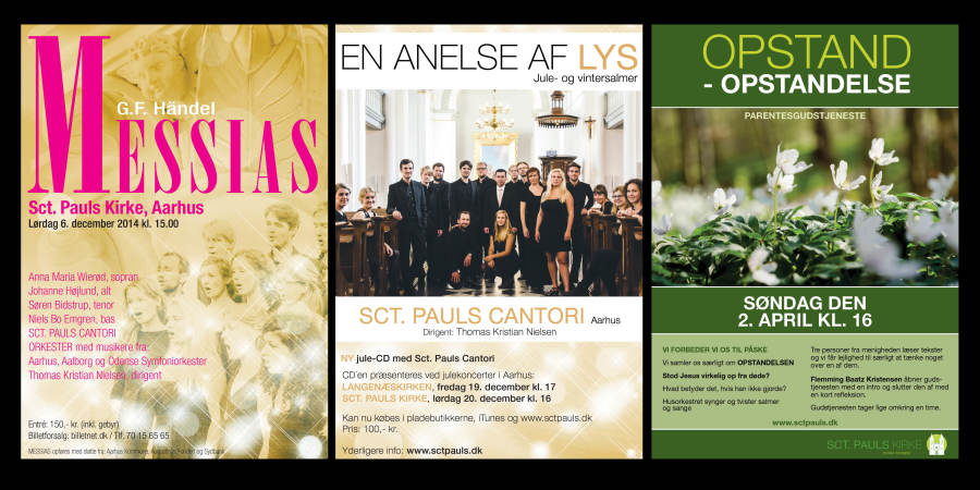 Posters for Sct. Pauls Church